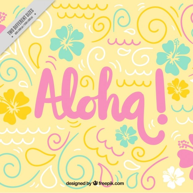 Aloha sfondo carino Vettore gratuito