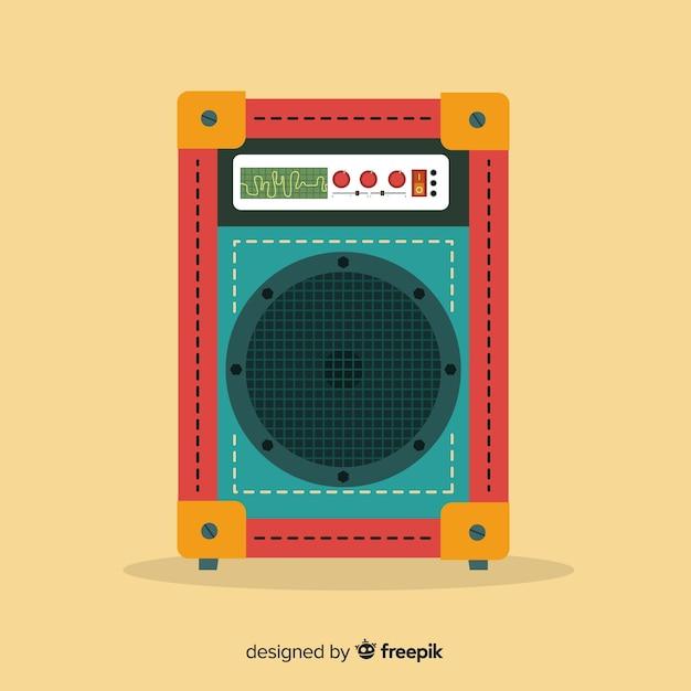 Altoparlante design piatto per la musica Vettore gratuito