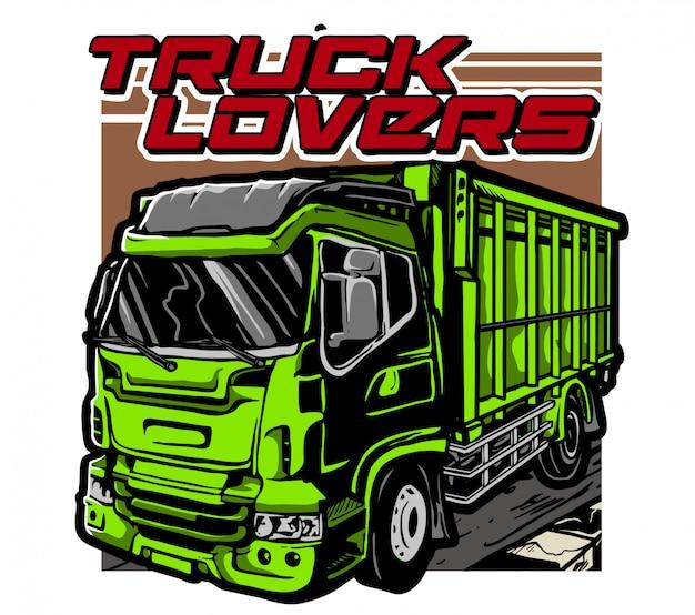 Amanti dei camion Vettore Premium