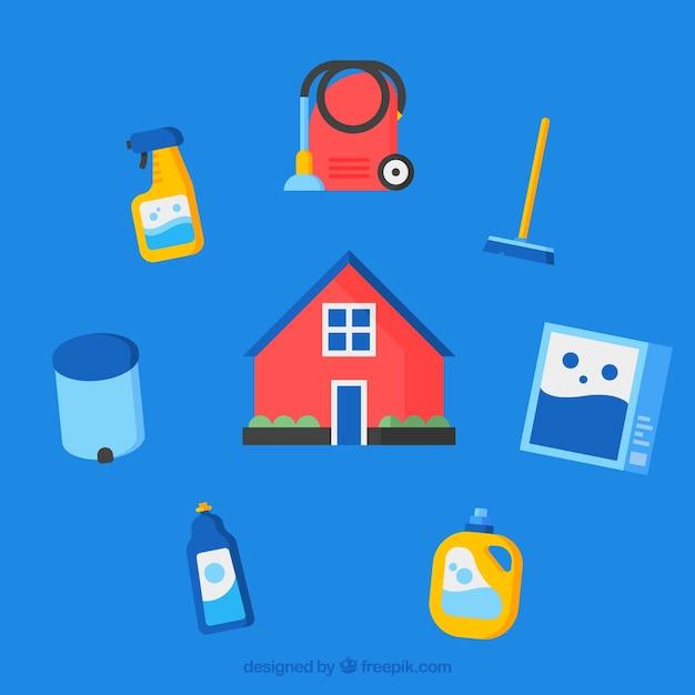 Ambientale set di icone per casa Vettore gratuito