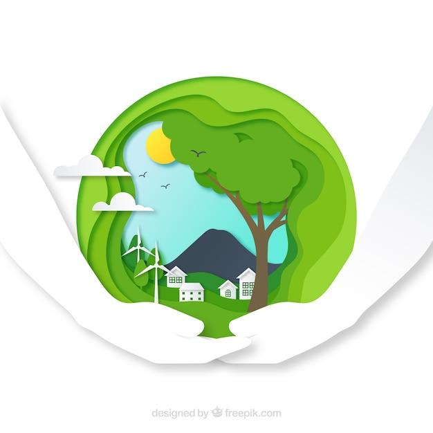 Ambiente e concetto di ecosistema Vettore gratuito