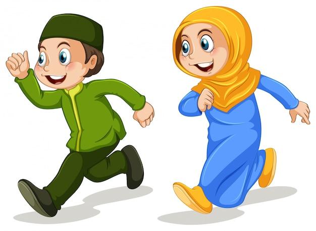 Amici musulmani Vettore gratuito