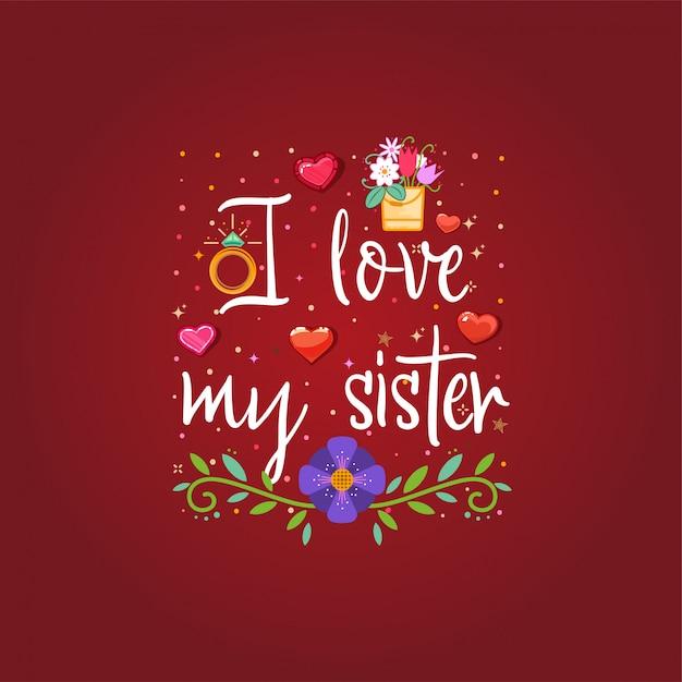 Amo mia sorella Vettore Premium
