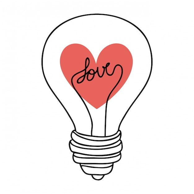 Amore design Vettore Premium