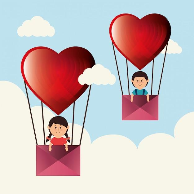 Amore e san valentino Vettore gratuito