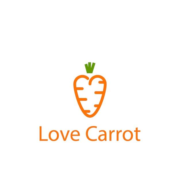 Amore modello di carota Vettore Premium