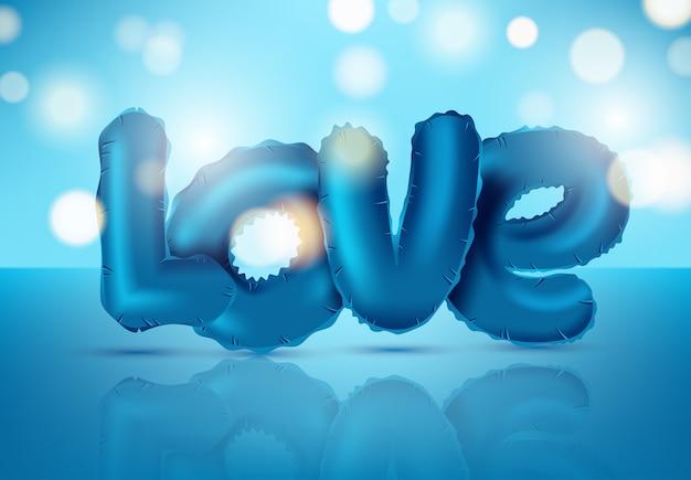 Amore palloncino isolato icona lucido per san valentino Vettore Premium