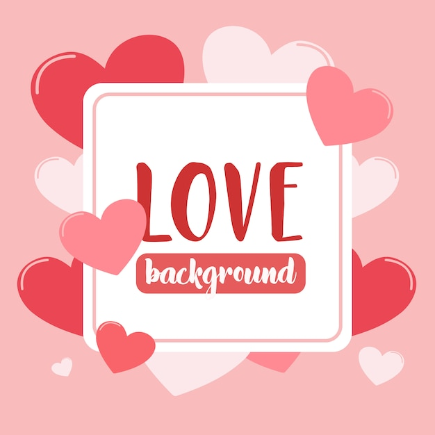 Amore sfondo con il cuore Vettore Premium