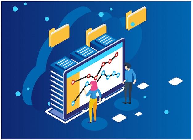 Analisi dei dati e concetto di statistiche. Vettore Premium