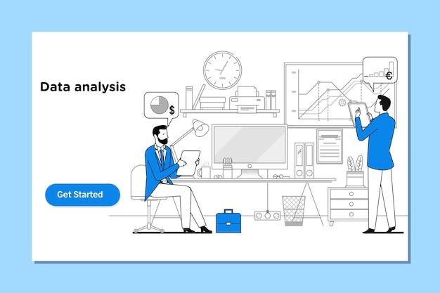 Analisi dei dati, ottimizzazione dei motori di ricerca Vettore Premium