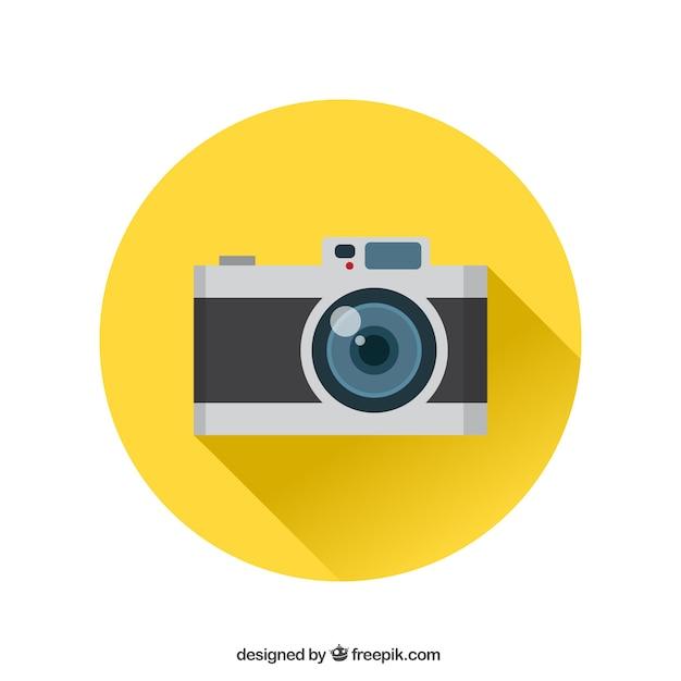 Analog icona della fotocamera Vettore gratuito