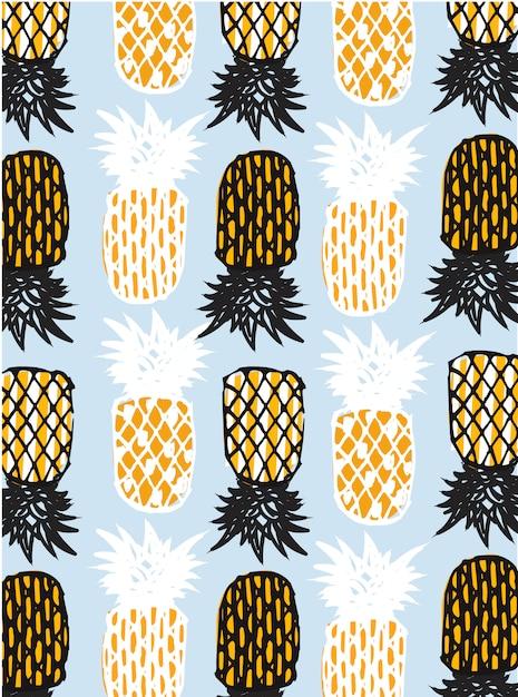 Ananas astratto Vettore Premium