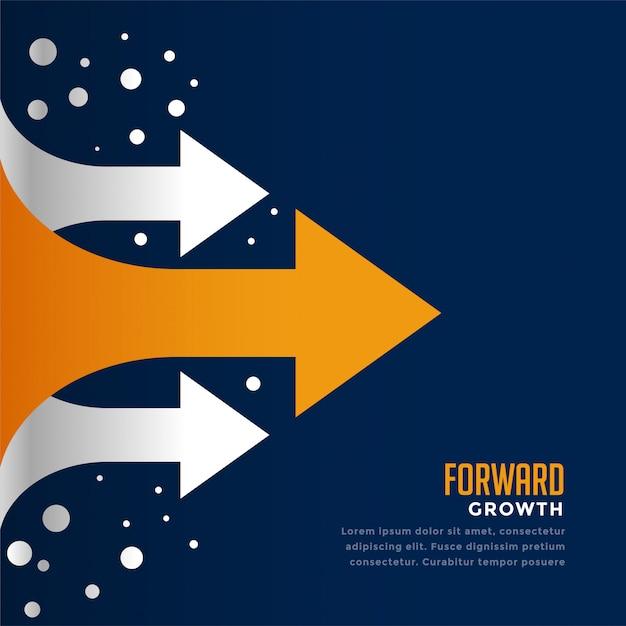 Andando avanti e conducendo il modello di concetto di freccia Vettore gratuito
