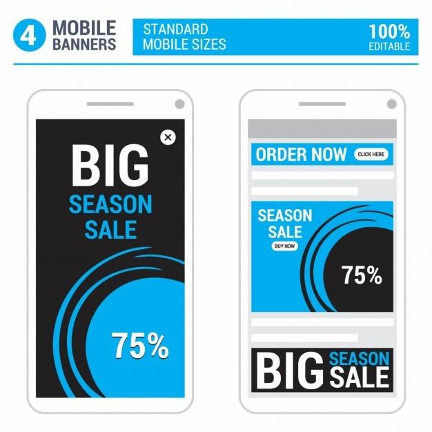 Android mobile add set Vettore gratuito