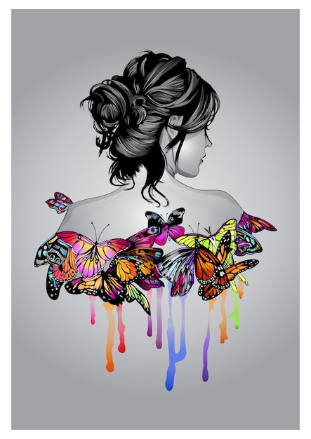 Anima farfalla Vettore Premium