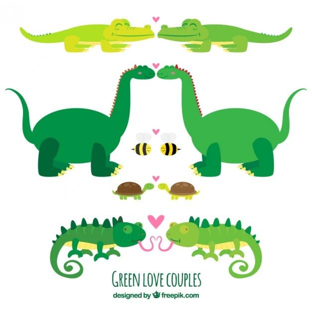 Animal collezione amore Vettore gratuito