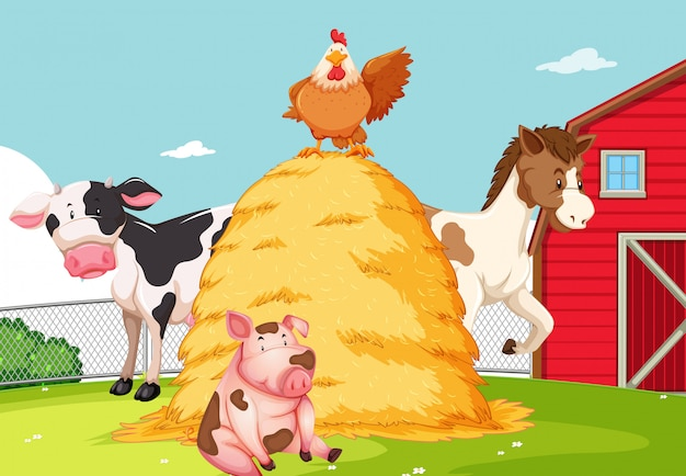 Animale al terreno agricolo Vettore gratuito