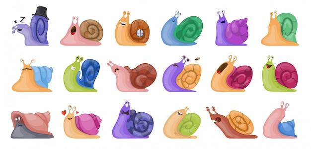 Animale dell'icona della lumaca Vettore Premium