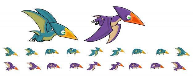 Animale pterodattilo per gioco Vettore Premium