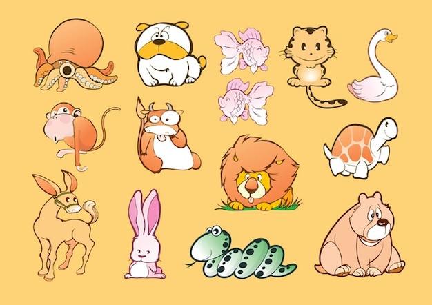 Animali cartoni animati scaricare vettori gratis