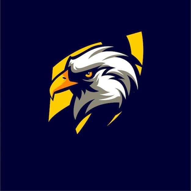 Animali eagle logo stile sportivo Vettore Premium