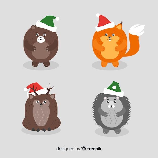 Liquidazione del 60% ultima selezione grande sconto Animali invernali con cappello | Scaricare vettori gratis