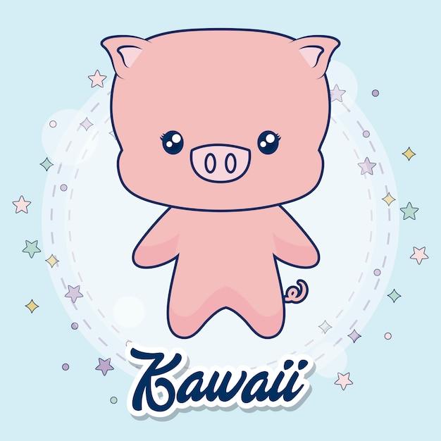 Animali kawaii Vettore gratuito