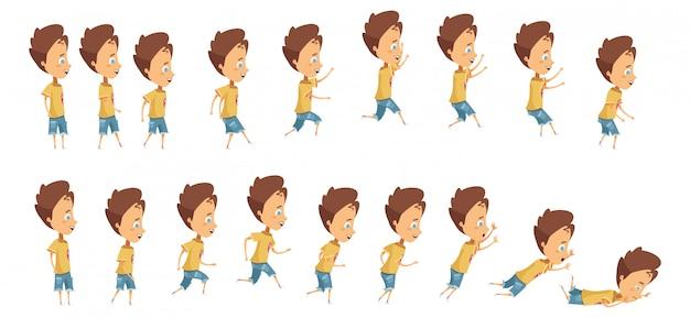 Animazione con sequenza fotogrammi quando si salta correndo Vettore gratuito