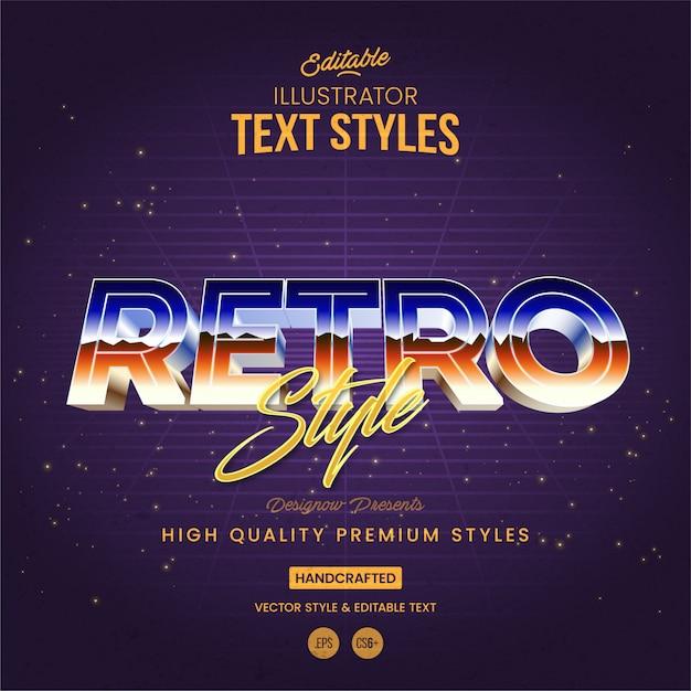 Anni '80 stile retrò del testo Vettore Premium