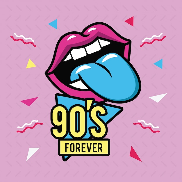 Anni '90 per sempre Vettore Premium