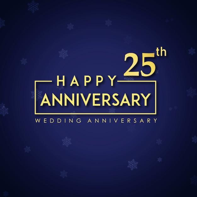 Anniversario Di Matrimonio 66 Anni.Anniversario Di Matrimonio Con 25 Anni Di Lusso Vettore Gratis