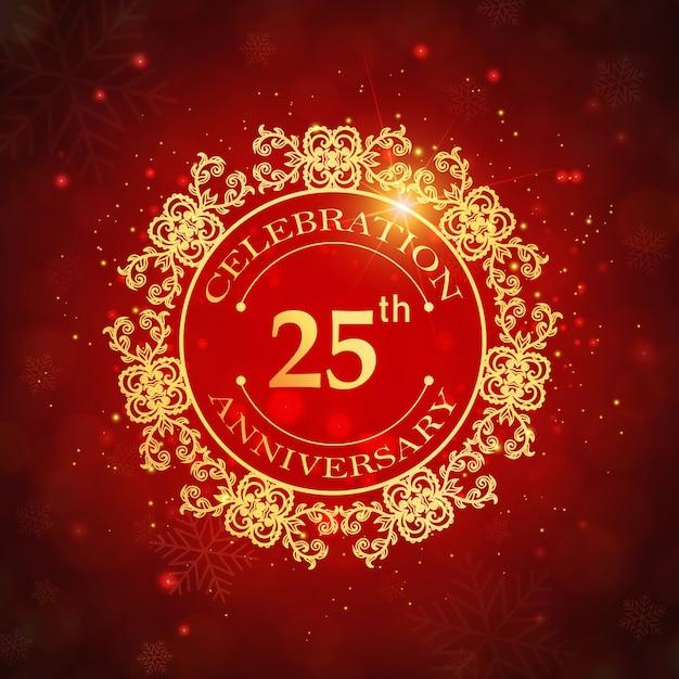 Anniversario Di Matrimonio 47 Anni.Anniversario Di Matrimonio Con 25 Anni Di Lusso Vettore Gratis