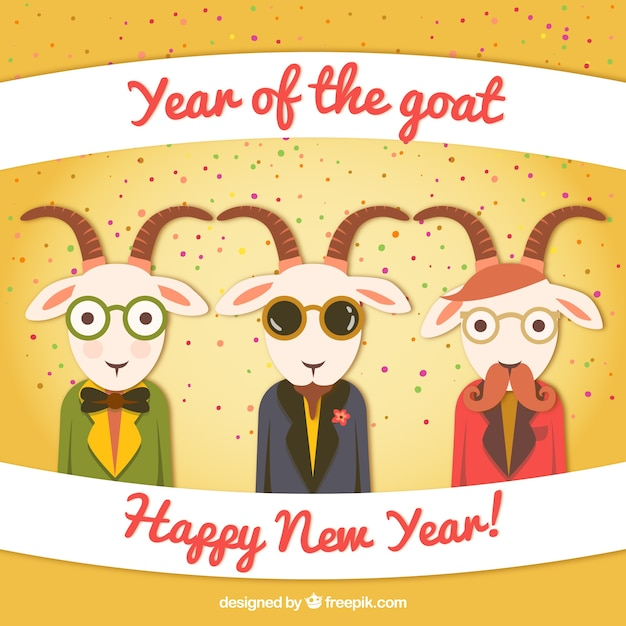 Anno del cartone animato di capra scaricare vettori gratis