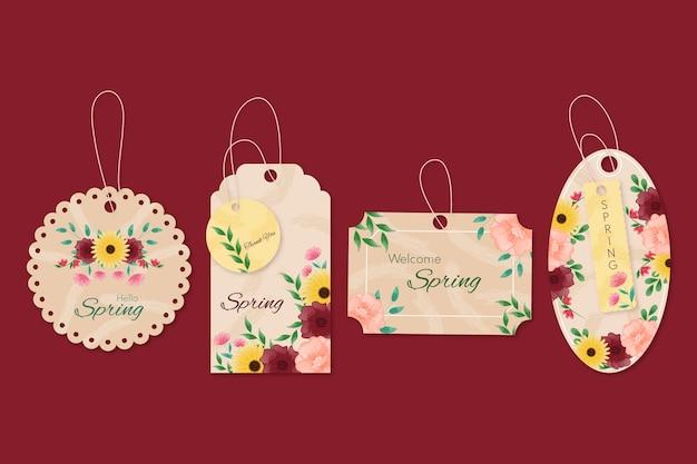 Annunci pubblicitari ganci floreali primaverili Vettore gratuito