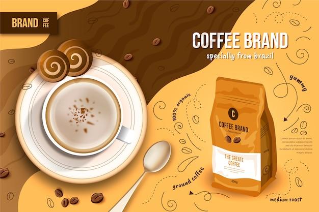 Annuncio di bevande al caffè Vettore gratuito