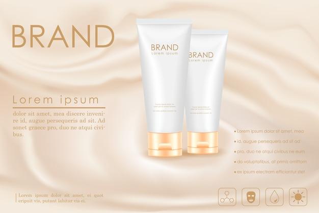 Annuncio di prodotti cosmetici Vettore Premium