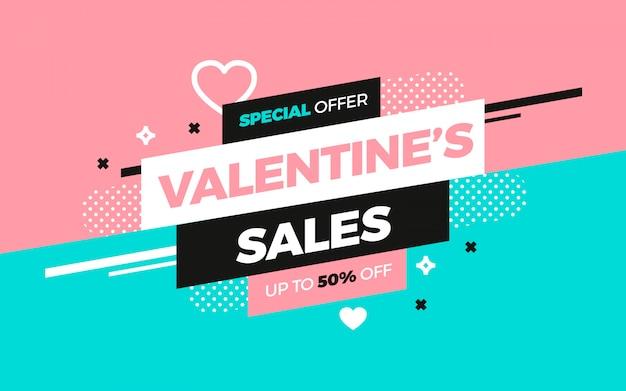 Annuncio di vendita di san valentino per social media Vettore gratuito