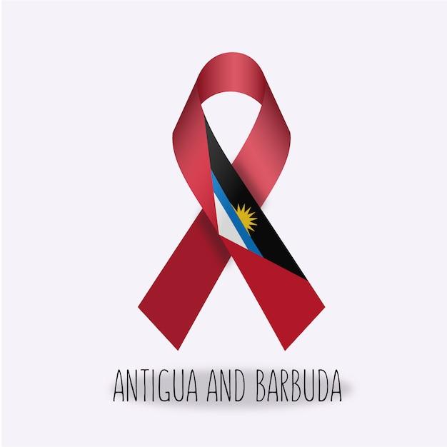 Antigua e barbuda bandiera design del nastro Vettore gratuito