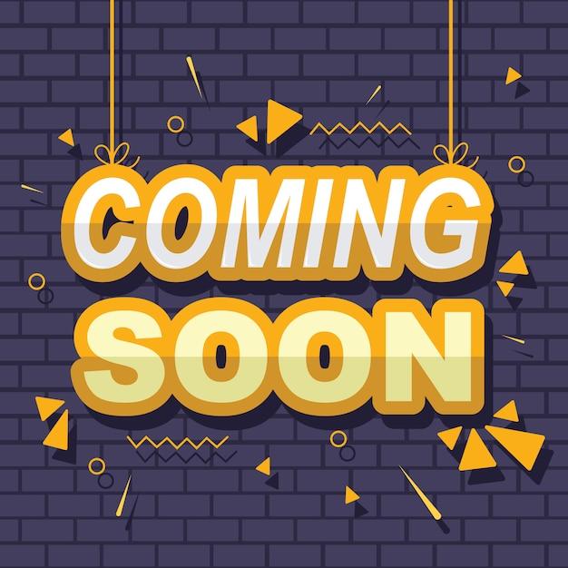 Apertura prossimamente banner banner badge design element Vettore Premium