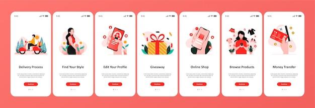 App negozio online Vettore Premium