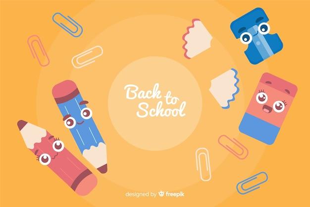 Appartamento torna a scuola sfondo Vettore gratuito