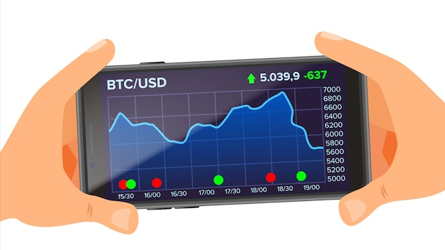 Applicazione bitcoin Vettore Premium