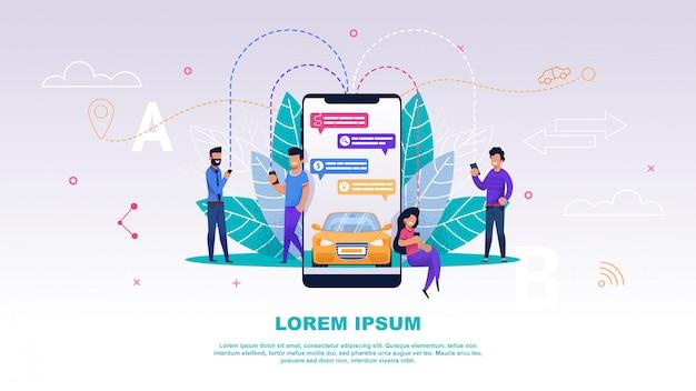 Applicazione mobile sullo schermo del telefono. Vettore Premium