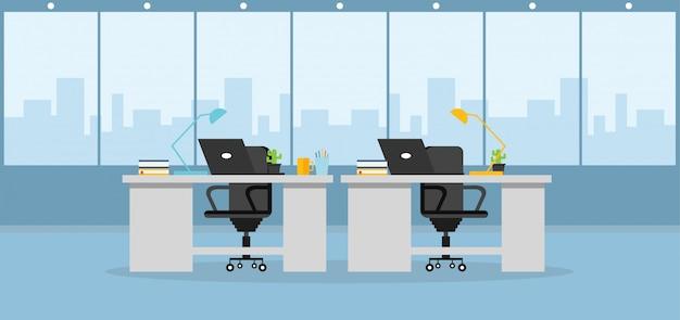 Apprendimento dell'ufficio e usando un'illustrazione di vettore di progettazione Vettore Premium