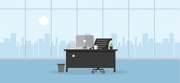 Apprendimento e insegnamento dell'ufficio per lavorare utilizzando un programma di progettazione Vettore Premium