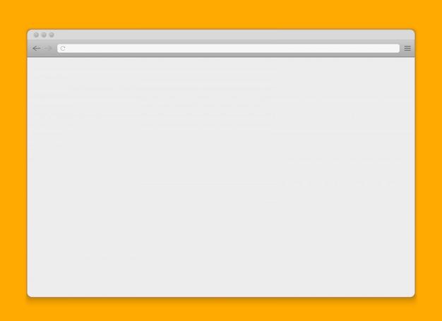 Apra la priorità bassa in bianco del browser della finestra di internet. Vettore Premium