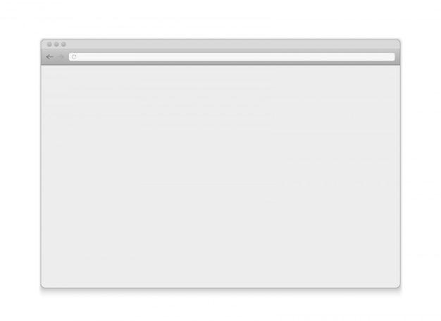 Apri il browser delle finestre internet Vettore Premium