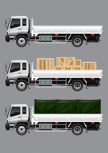 Aprire il camion del carico Vettore Premium