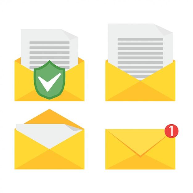 Aprire un'e-mail. Vettore Premium