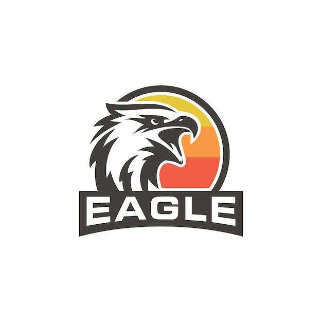 Aquila creativa logo stock vector Vettore Premium